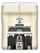 Old Church In Boston Duvet Cover