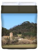 Old Church Near Montelupo Duvet Cover