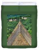 Old Church View Dordogne France Duvet Cover