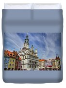 Old City Hall Clock Tower - Posnan Poland Duvet Cover