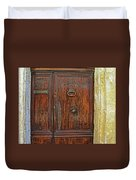 Old Door Study Provence France Duvet Cover
