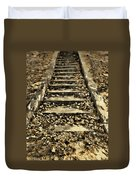 Old Dried Leaves Duvet Cover