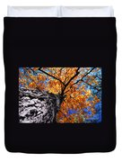 Old Elm Tree In The Fall Duvet Cover