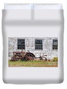 Old Farm Equipment Duvet Cover