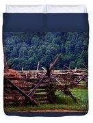 Old Farm Hay Rake Duvet Cover