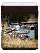 Old Farm Trucks Duvet Cover