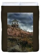 Old Farmhouse With Stormy Sky Duvet Cover