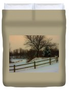 Old Fashiion Winter Duvet Cover