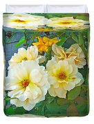 Old Fashioned Yellow Rose - Mirror Box Duvet Cover