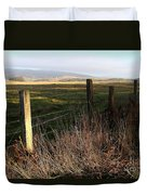 Old Fence And Landscape At Point Reyes California . 7d9968 Duvet Cover