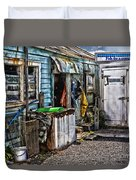 Old Fishing Store At Rawehe Duvet Cover