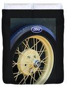Old Ford Wheel Duvet Cover