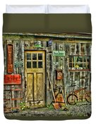 Old General Store Hdr Duvet Cover