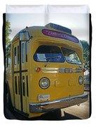 Old Gm Bus Duvet Cover