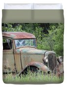Abandoned Truck In Field Duvet Cover