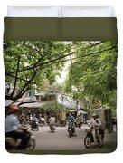 Old Hanoi Life Duvet Cover