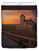 Old Harbor U.s. Life Saving Station Duvet Cover by Susan Candelario