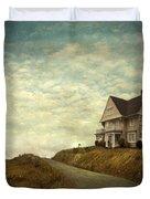 Old House On Rural Road Duvet Cover
