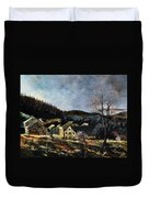 Old Houses In Mogimont Duvet Cover