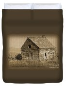Old Hunting Cabin - Wyoming Duvet Cover by Donna Greene