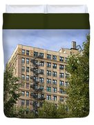 Old Iron Fire Escape Chicago Il Duvet Cover by Christine Till