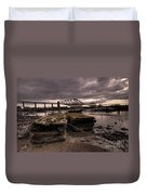 Old Jetty By The Bridge Duvet Cover