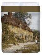 Old Kentish Cottage Duvet Cover