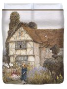 Old Manor House Duvet Cover by Helen Allingham