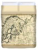 Old Map Of Northern Europe Duvet Cover