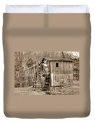 Old Mill In Sepia Duvet Cover