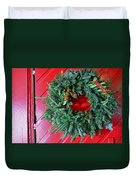 Old Mill Of Guilford Door Wreath Duvet Cover