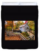 old mill Smoky Mountains Duvet Cover