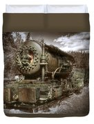 Old Mine Train Banff Duvet Cover