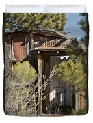 Old Miner's Cabin Duvet Cover
