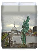 Old Montreal Angel Duvet Cover