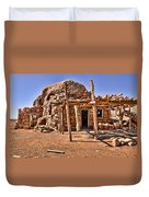 Old Navajo Stone House Duvet Cover