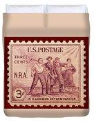 Old Nra Postage Stamp Duvet Cover