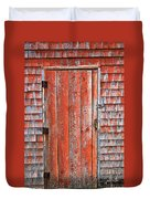Old Orange Door  Duvet Cover