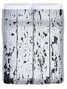 Old Painted Wood Abstract Duvet Cover
