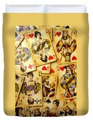Old Playing Cards Duvet Cover