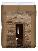 Old Ranch Hand Cabin Entry Duvet Cover