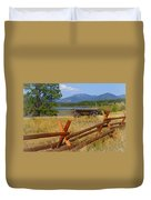 Old Ranch Wagon Duvet Cover
