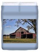 Old Red Barn  Duvet Cover