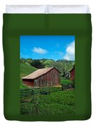 Old Red Barn Duvet Cover by Kathy Yates
