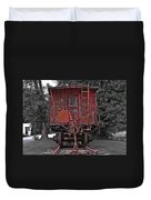 Old Red Train Duvet Cover
