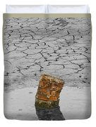 Old Rusted Barrel Abstract Duvet Cover