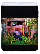Old Rusting Truck Duvet Cover