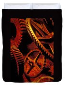 Old Rusty Gears Duvet Cover