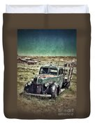 Old Rusty Truck Duvet Cover