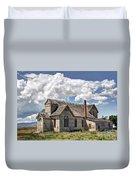 Old Schoolhouse - Ovid - Idaho Duvet Cover